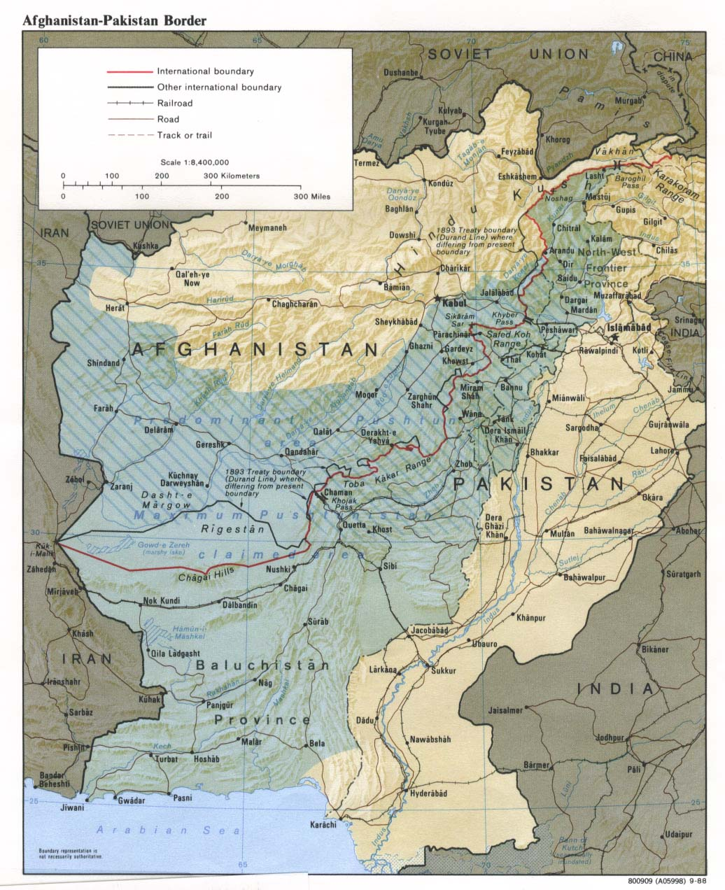 Afghanistan Pakistan Border Map Weltatlas