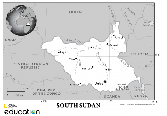 South Sudan Wikitravel - mandegar info