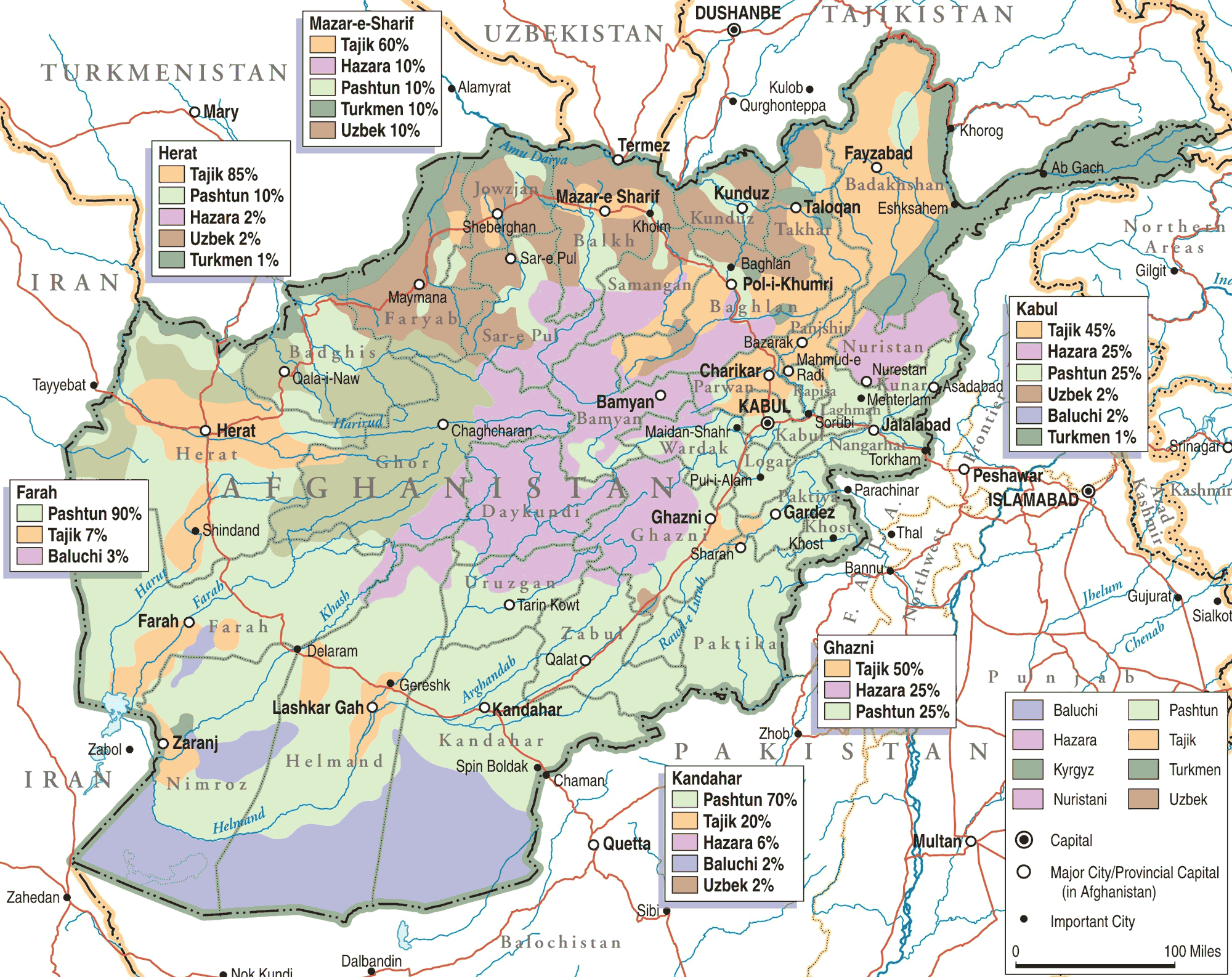 afghanistan-ethno-linguistic-groups | Weltatlas