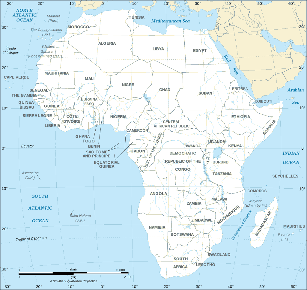 african_continent_countries_map