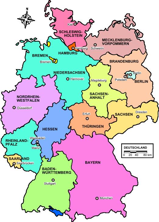 eine landkarte von deutschland Deutschland | Weltatlas