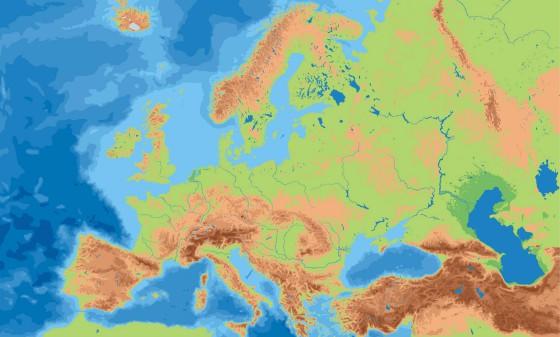 Europa Karte Physisch.Physische Landkarte Von Europa Weltatlas