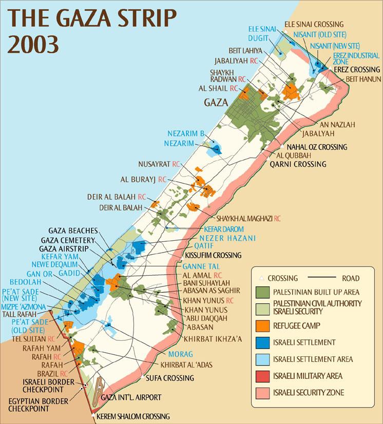 gaza-strip-2003-map | Weltatlas