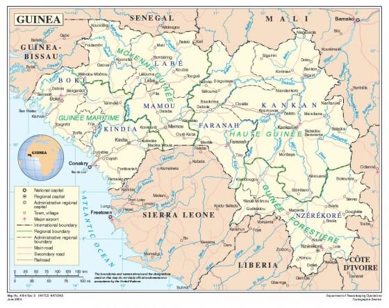 Guinea : Alphabetisierungsrate der Jugend der