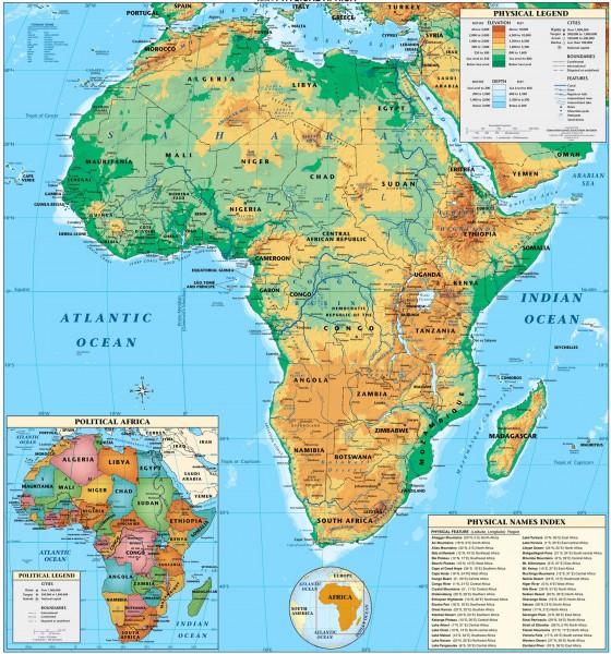 Afrika Weltatlas Seite 2