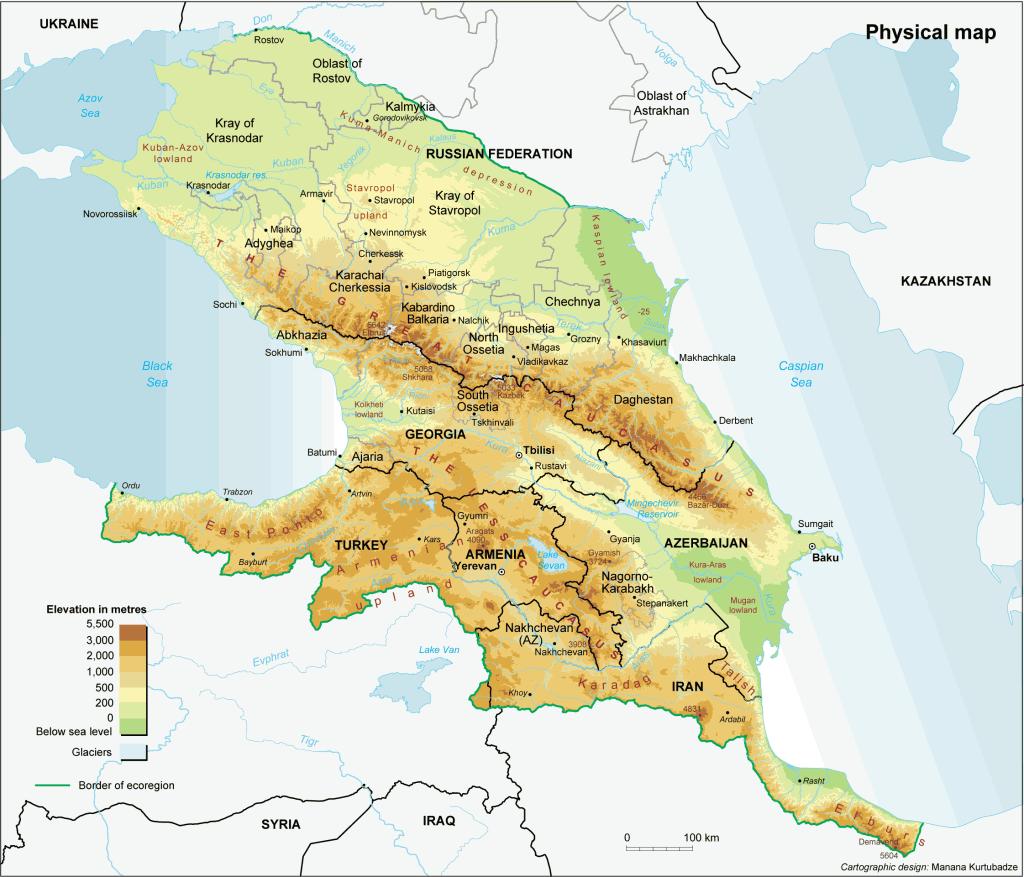 the_caucasus_physical