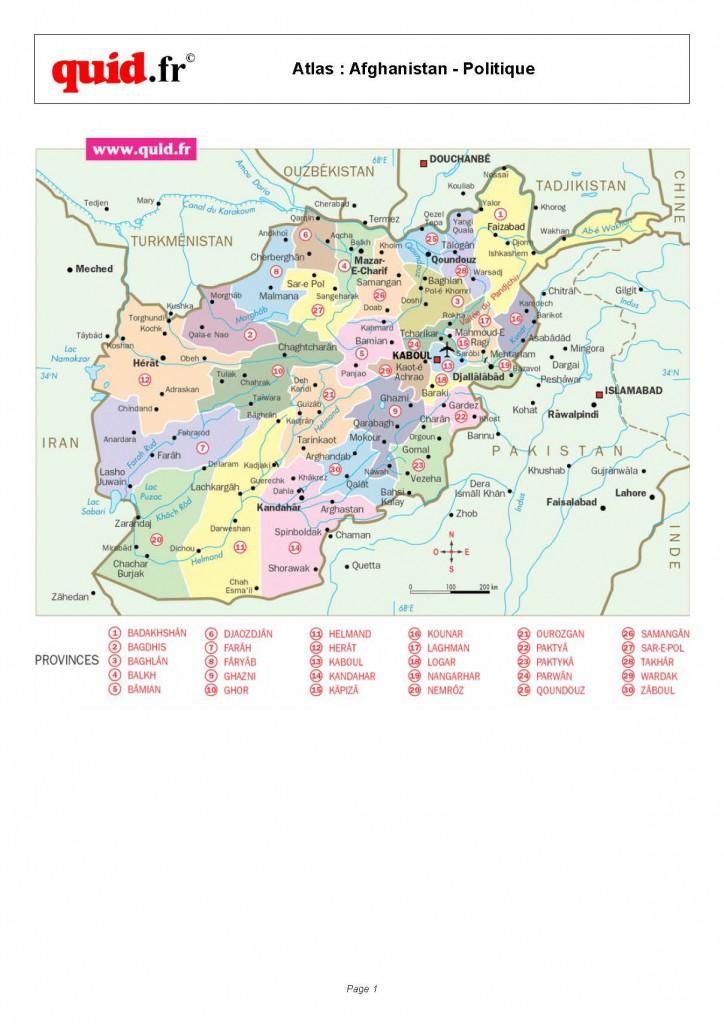 Afghanistan-Provinces-Map