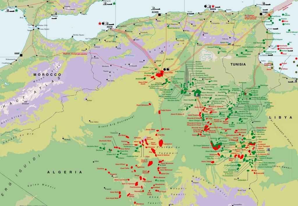Algeria-Hydrocarbon-Map