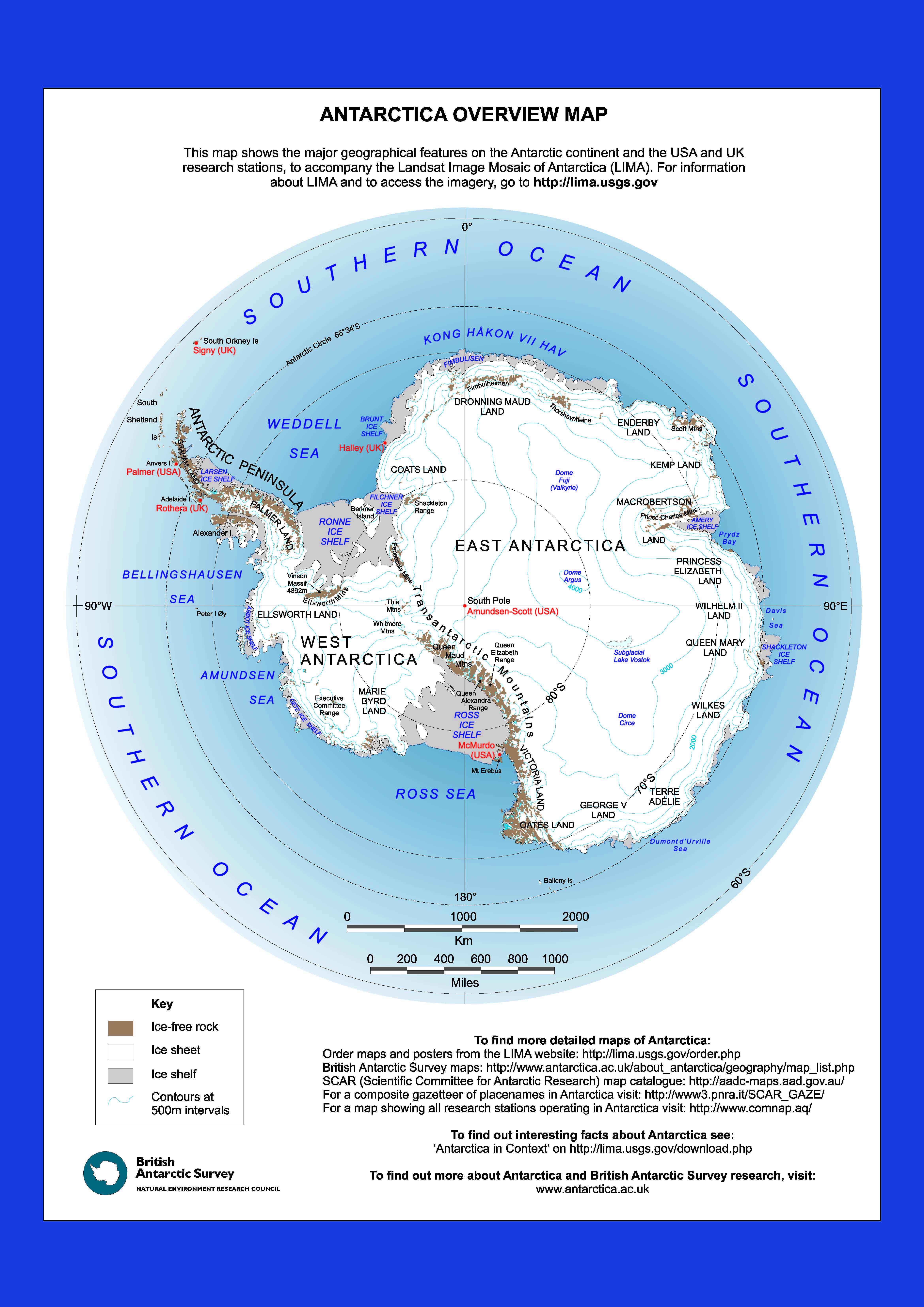 Antarctica-Overview-Map | Weltatlas
