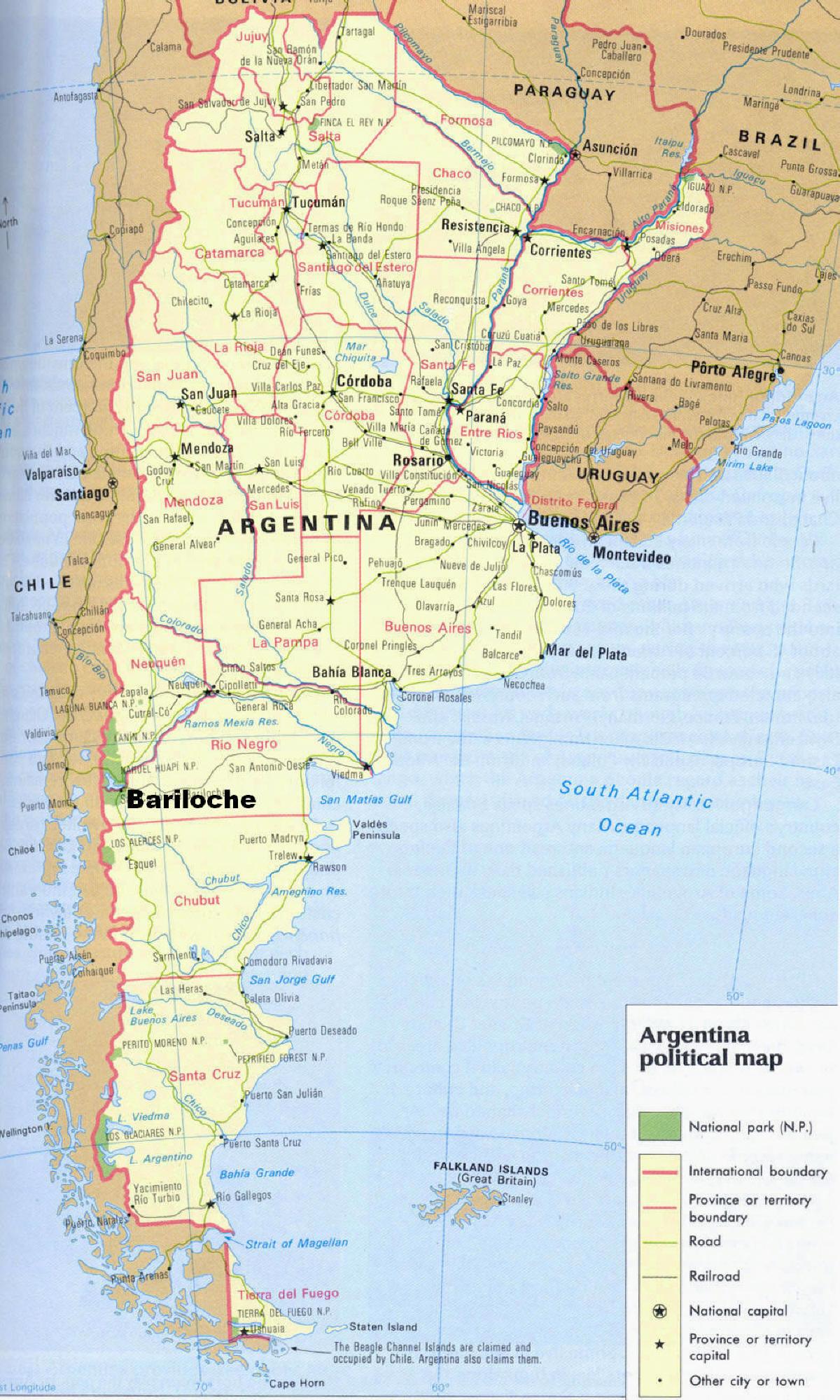 Argentina-Tourist-Map-2 | Weltatlas