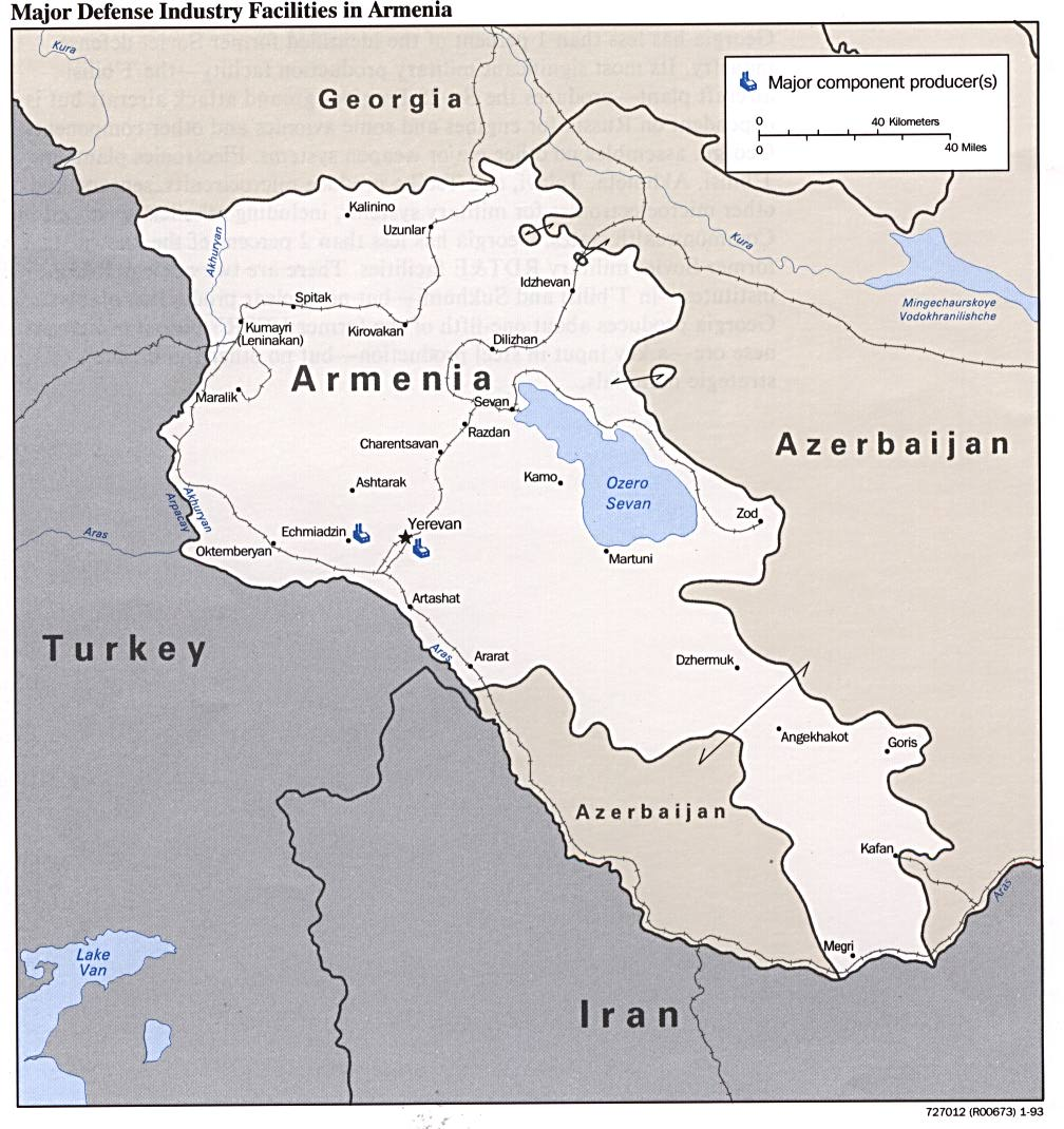 Armenia-Defense-Facilities-Map | Weltatlas