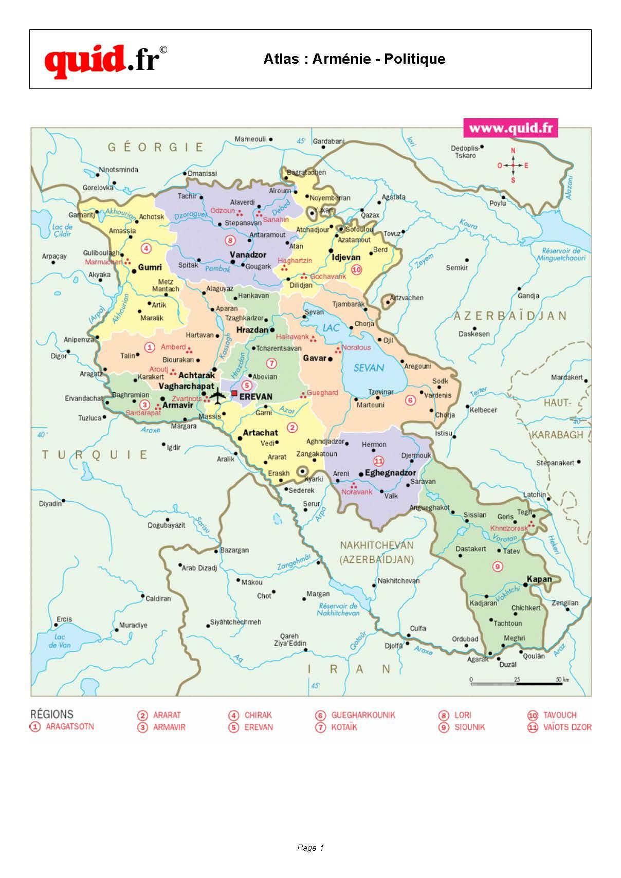 Armenia-Regional-Map | Weltatlas