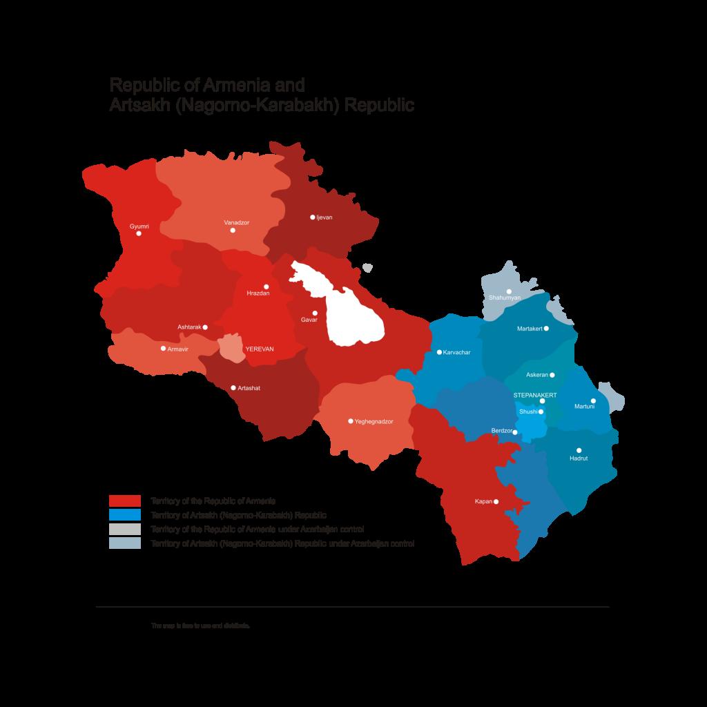 Armenia-and-Karabakh-Vector-Map