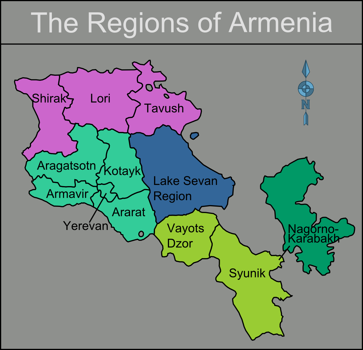 Armenia-regions-Map | Weltatlas
