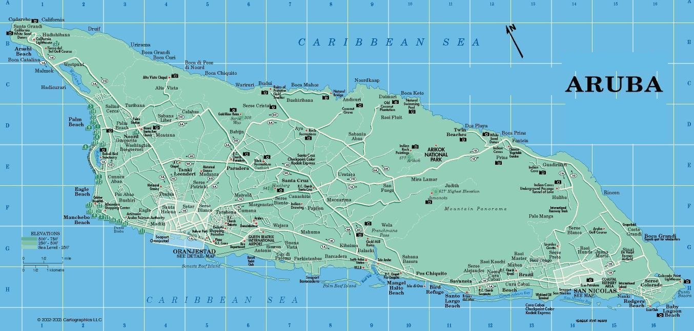 Aruba-Map-2 | Weltatlas