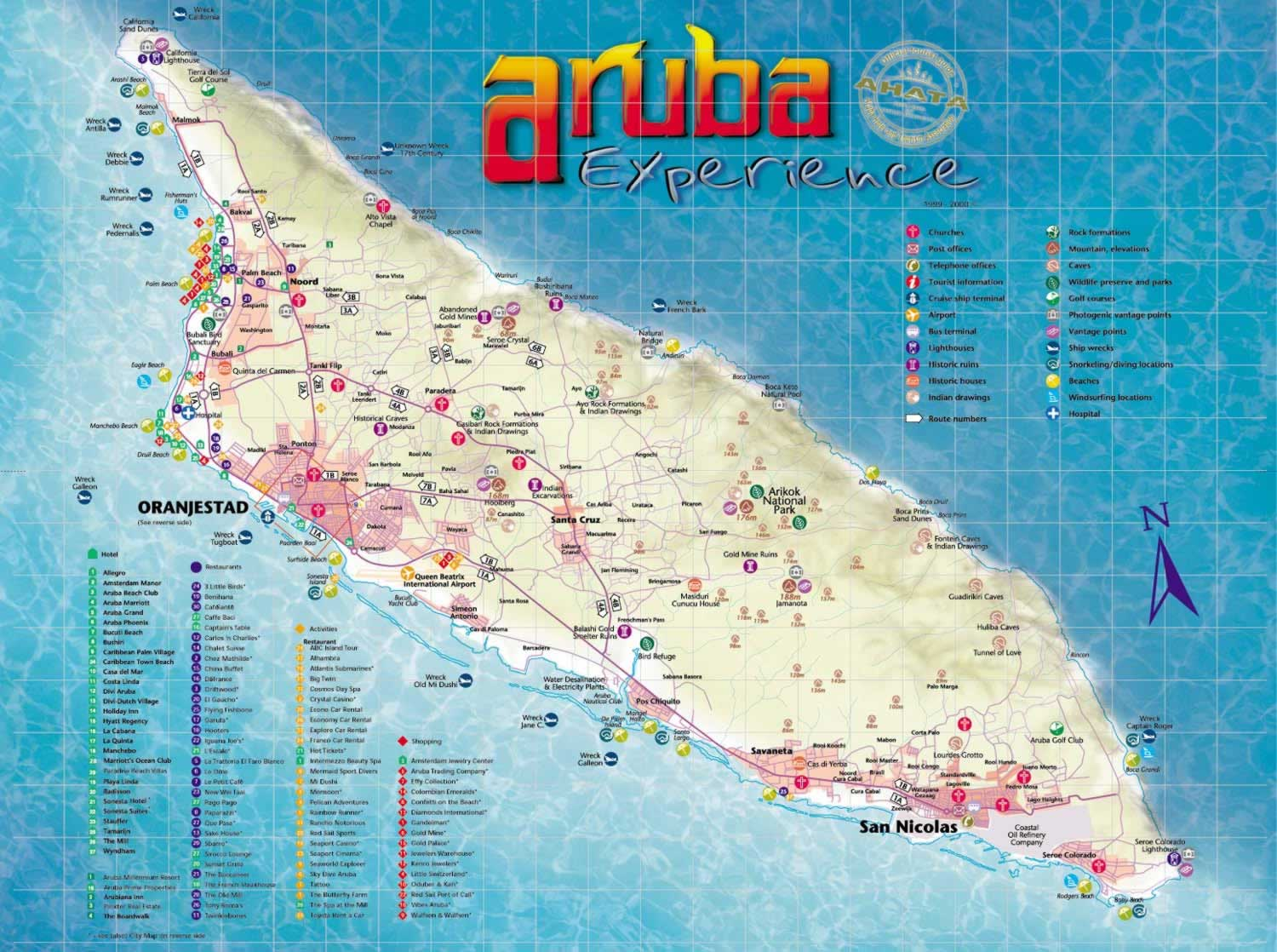 Aruba-Tourist-Map-2 | Weltatlas