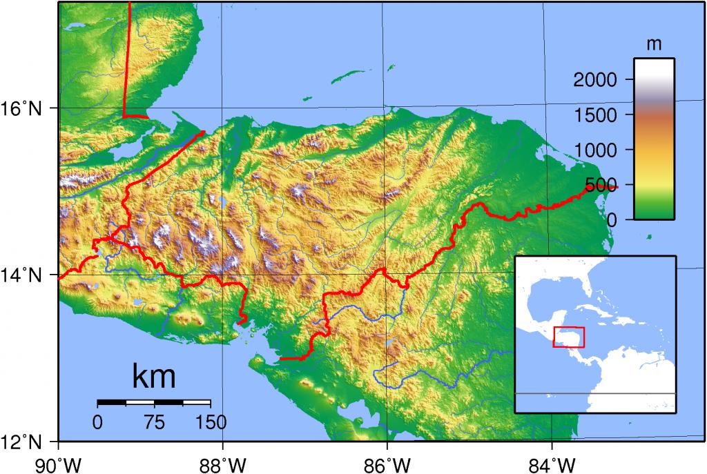 Honduras_Topography