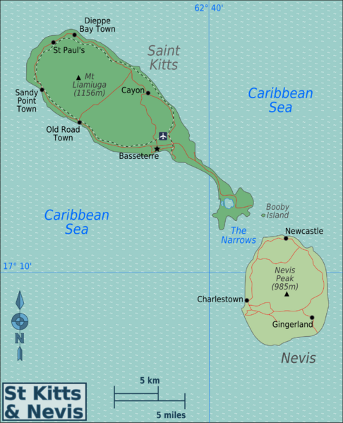 Kitts_and_Nevis_Regions_map