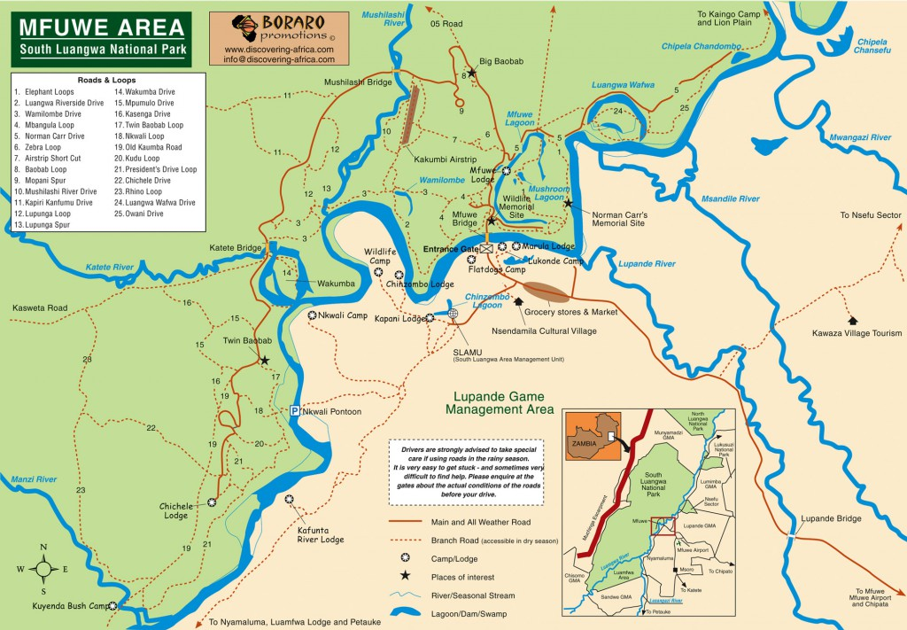 Mfuwe-Area-South-Luangwe-National-Park-Map