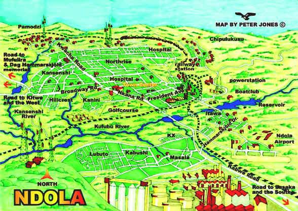 Ndola-Map