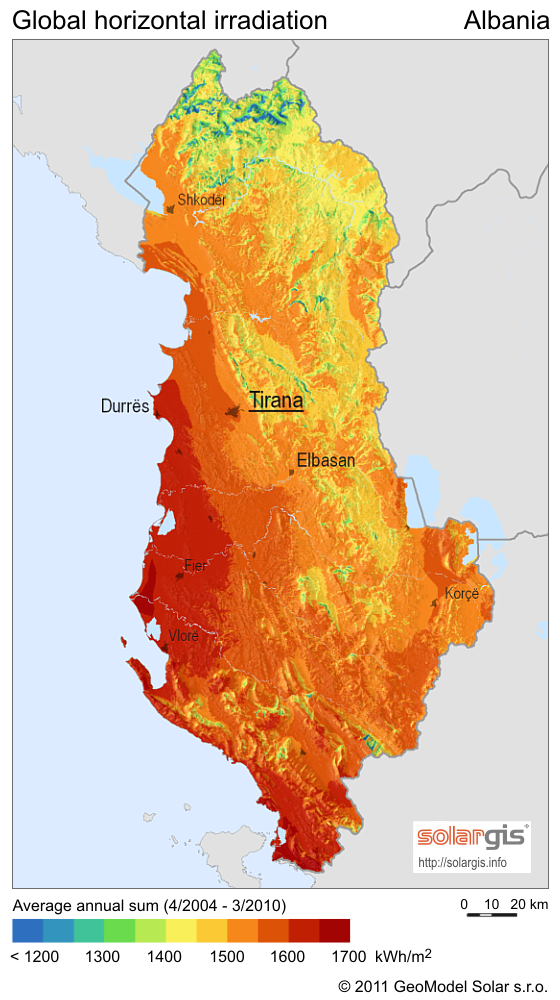 Solar-Radiation-Map-of-Albania