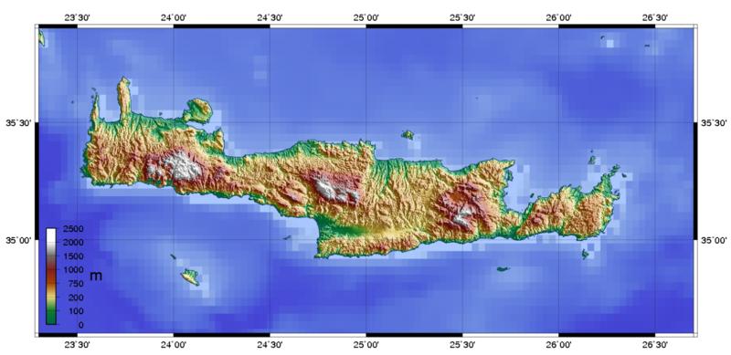 landkarte von kreta Topographische__Giechenland | Weltatlas landkarte von kreta