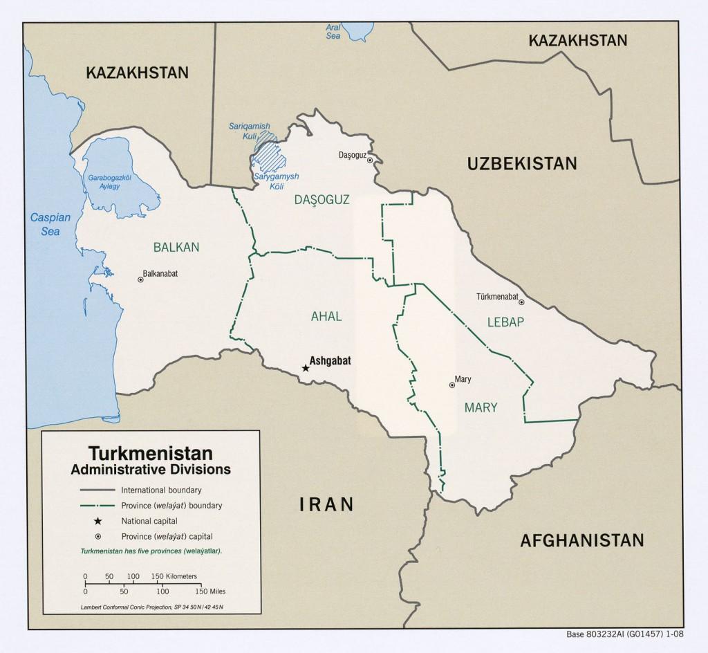 -administrative-bezirke-Turkmenistan