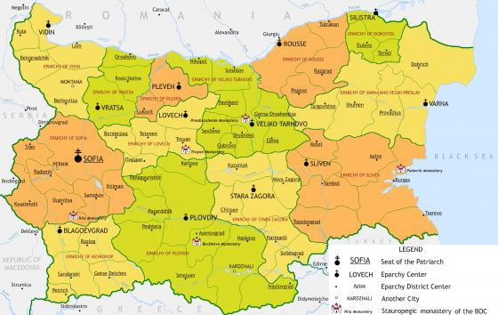 bulgarien physische karte Politische Landkarte von Bulgarien | Weltatlas