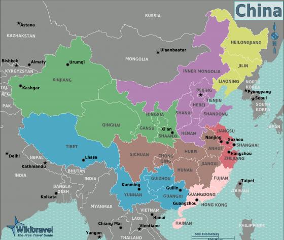 china karte politisch Politische Landkarte von China | Weltatlas
