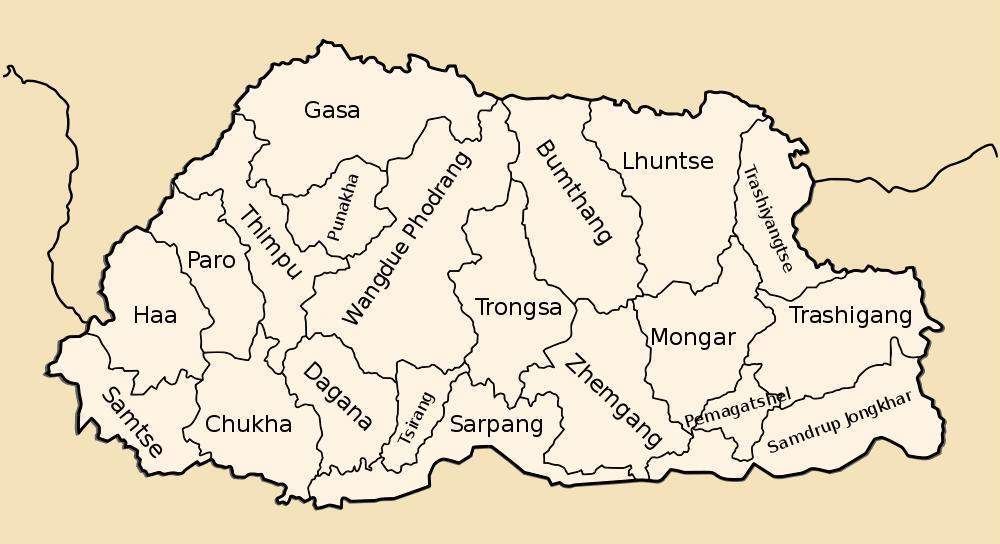 districts-bhutan