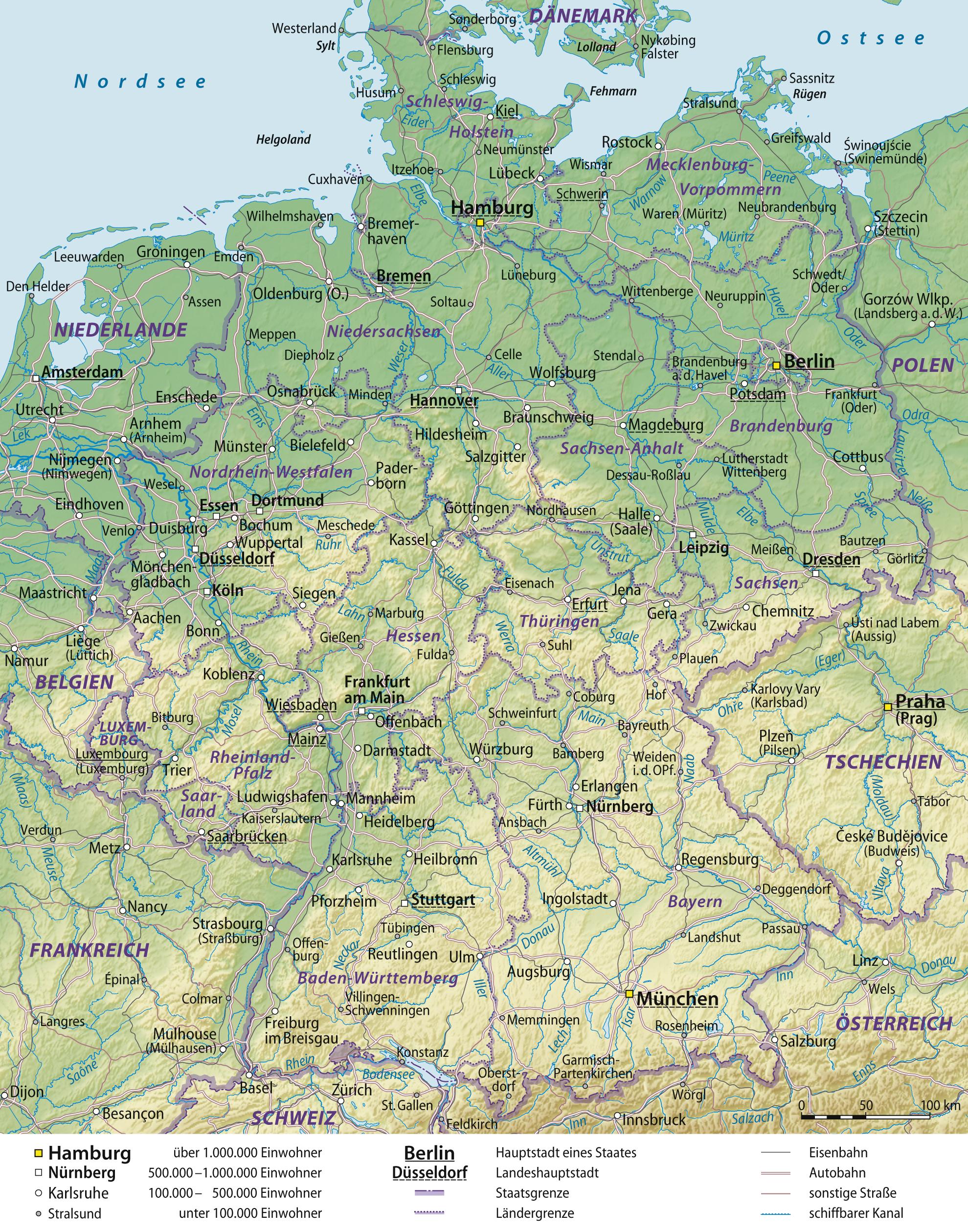 Deutschland | Weltatlas - Atomkraftwerke In Deutschland Karte