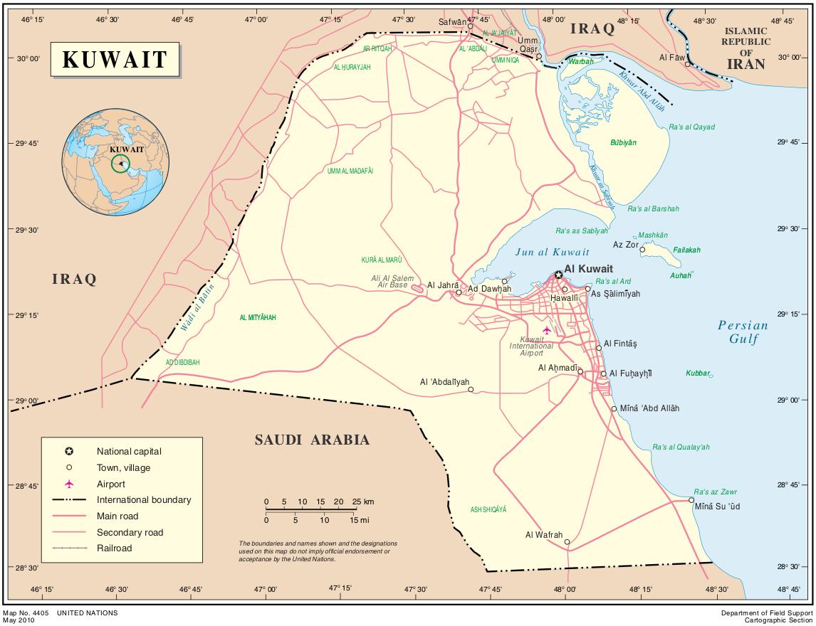 map.kuwait | Weltatlas