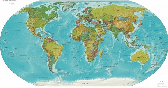 Weltkarten Physische Weltkarten Weltatlas