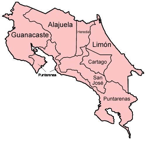 provinzen_costa_rica