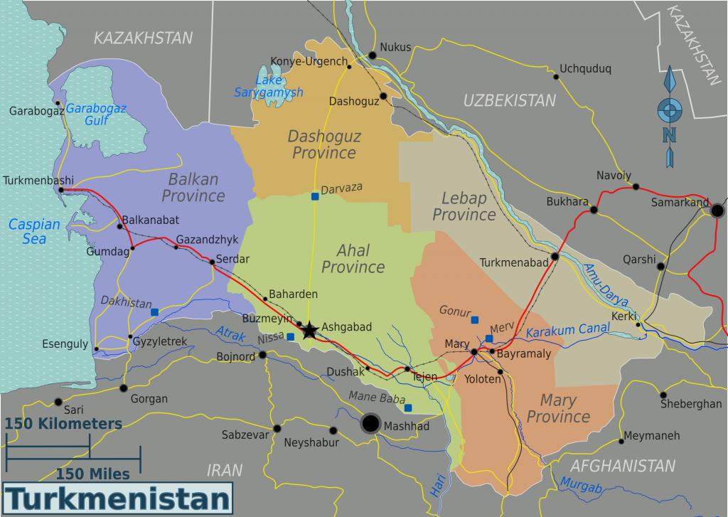 -regionen-Turkmenistan