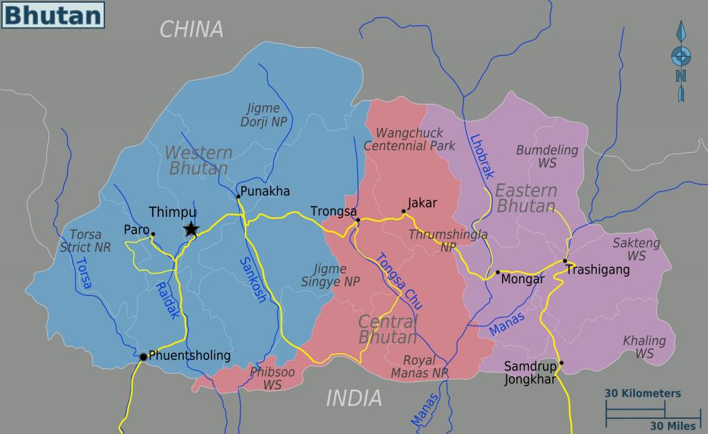 -regionen-bhutan