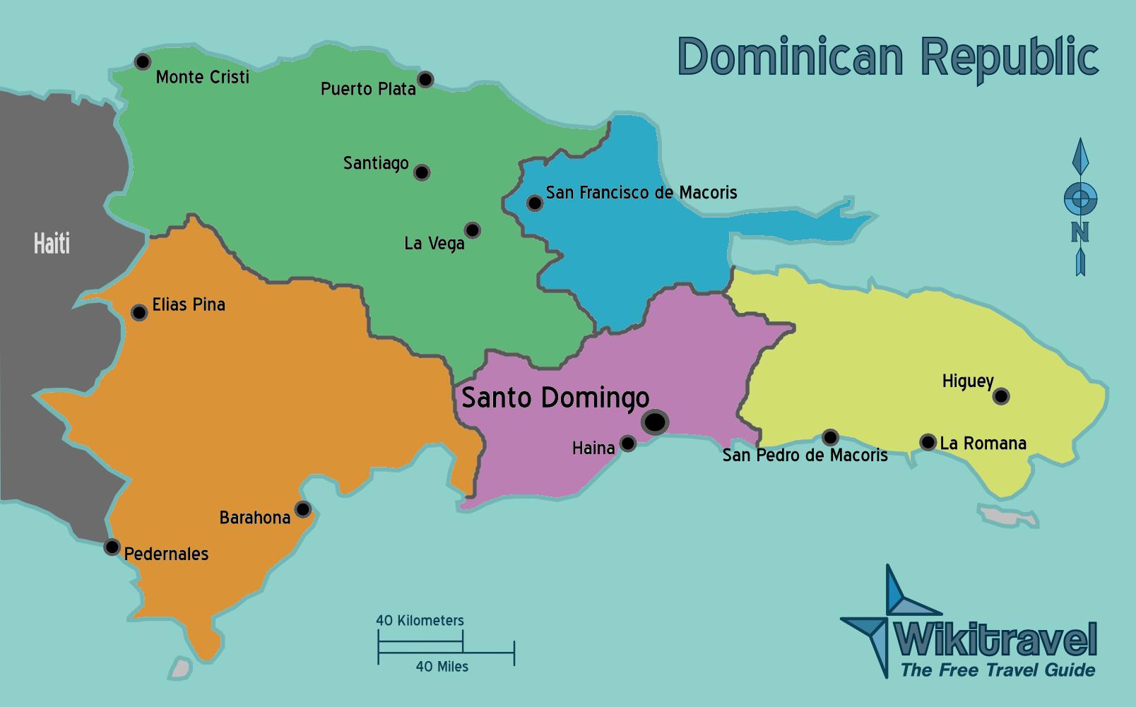 dominikanische republik landkarte regionen dominikanische republik | Weltatlas dominikanische republik landkarte