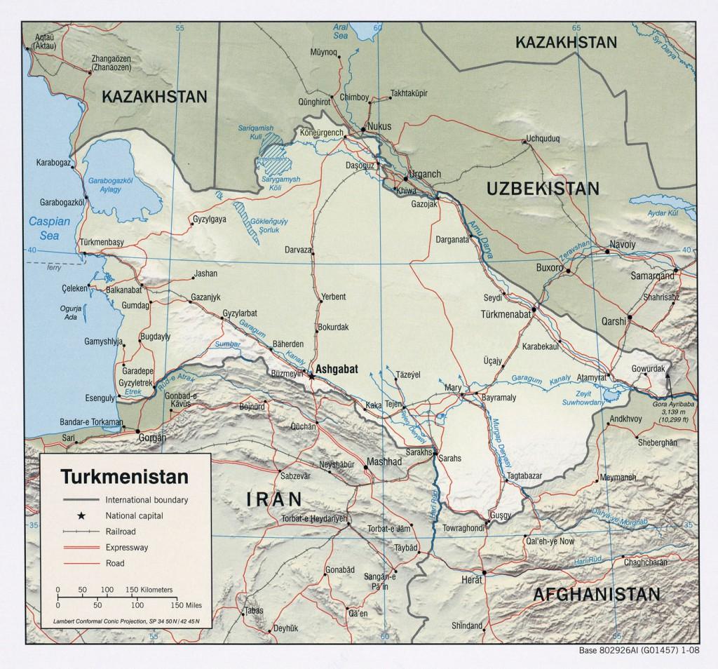 relief-Turkmenistan