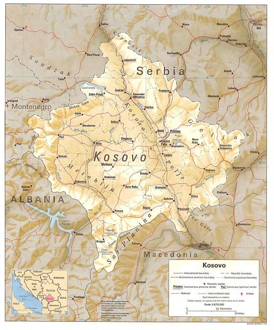 Kosovo Weltatlas