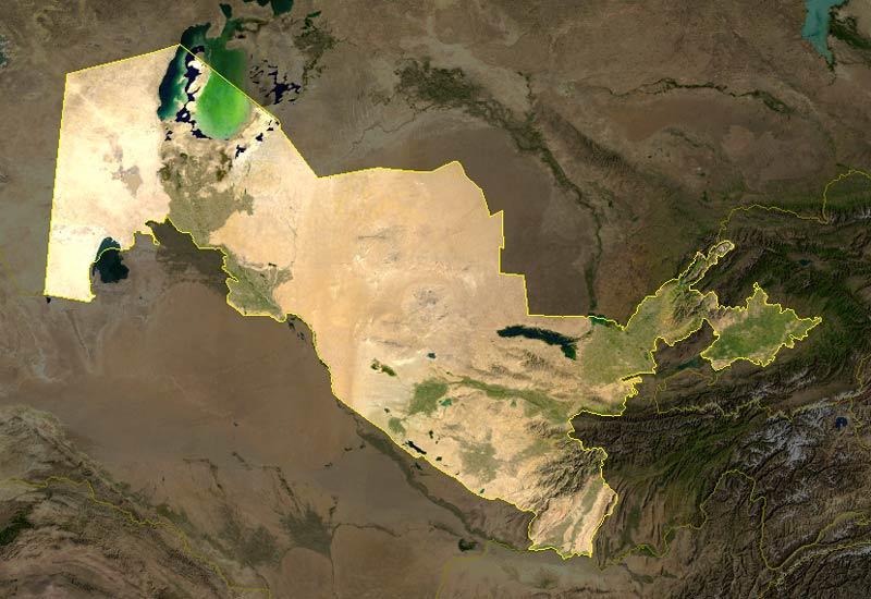 satelliten-Usbekistan