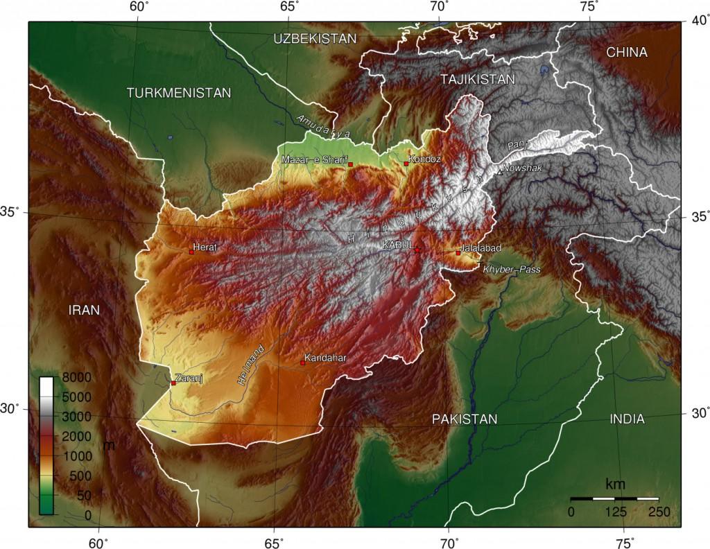 topografische--afghanistan