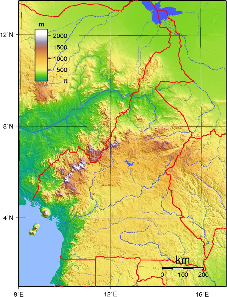 -topographie-kamerun