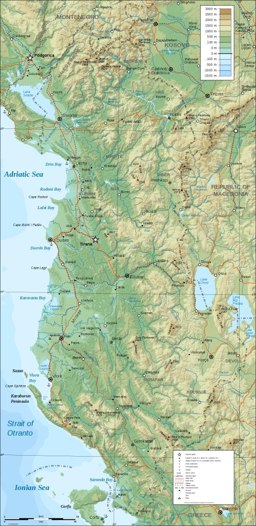 topographische--albanien
