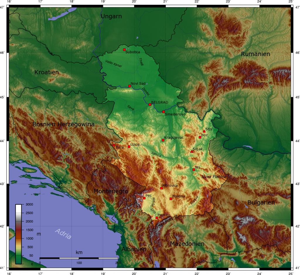 topographische--serbien
