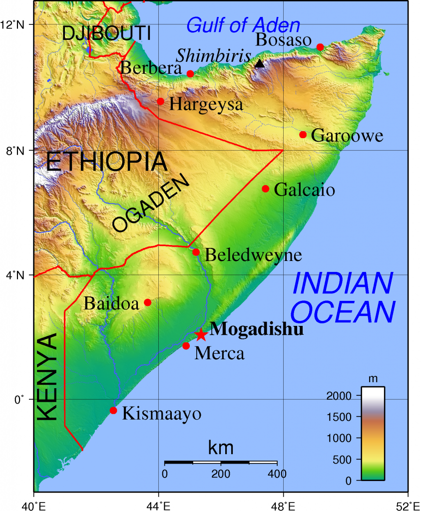 topographische--somalia