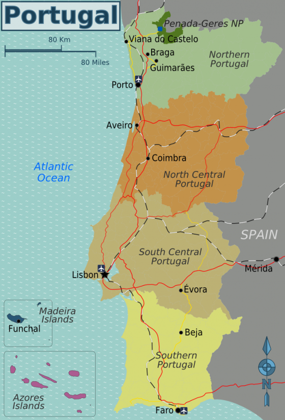 Azoren Karte Weltatlas.Politische Landkarte Von Portugal Englisch Weltatlas