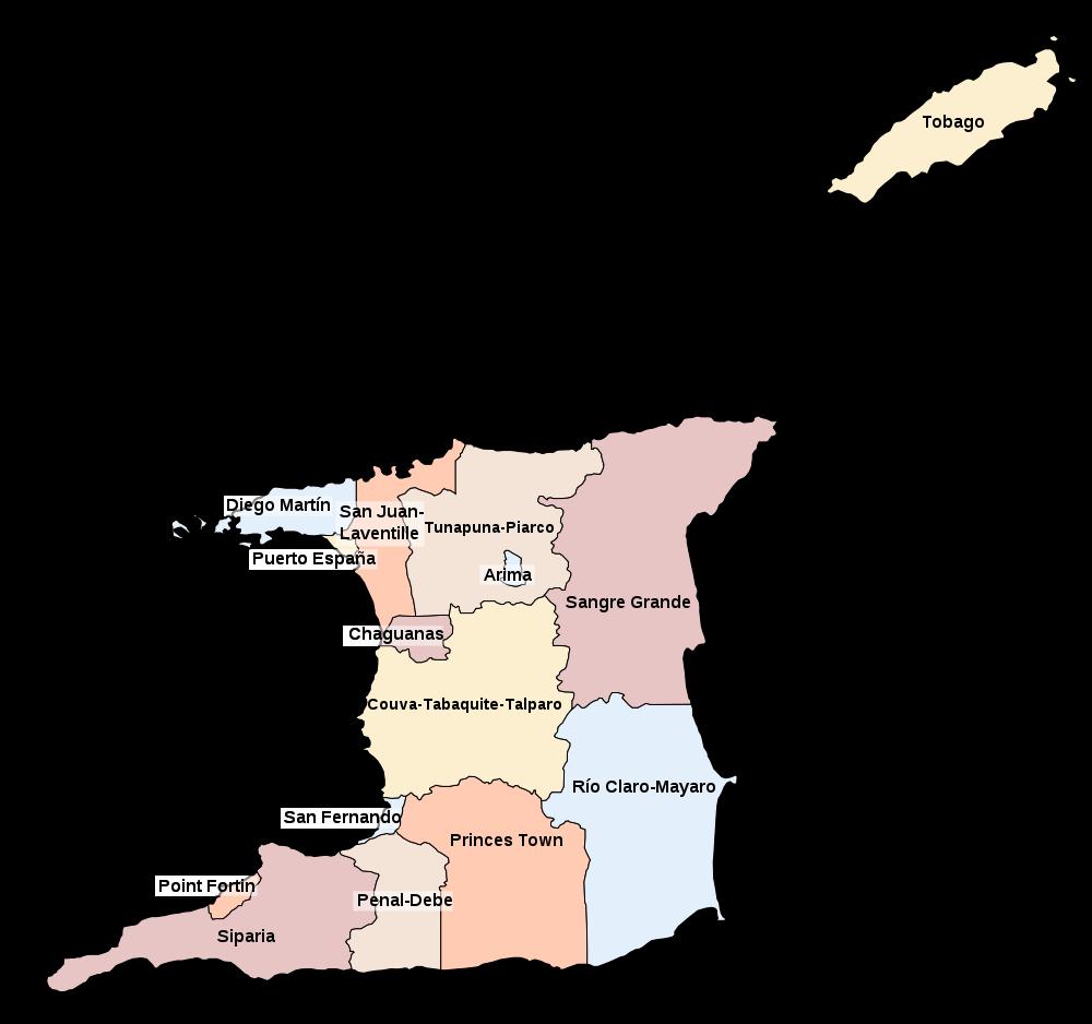 -verwaltungsbezirke-trinidad-tobago