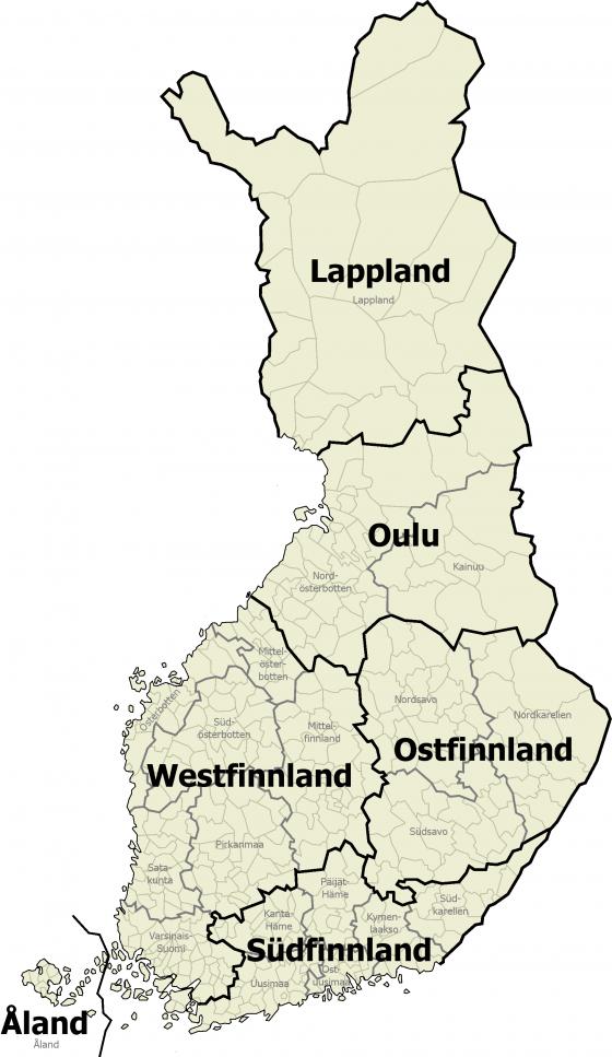 Finnland Karte Regionen.Finnland Weltatlas